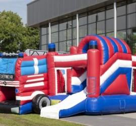 structure gonflable camion de pompier